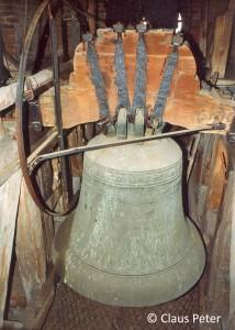 Die große Glocke (1464) der Johanniskirche.