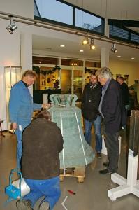 Verladen der Glocken im Museum, Photo: Dr. Hendrik Sonntag